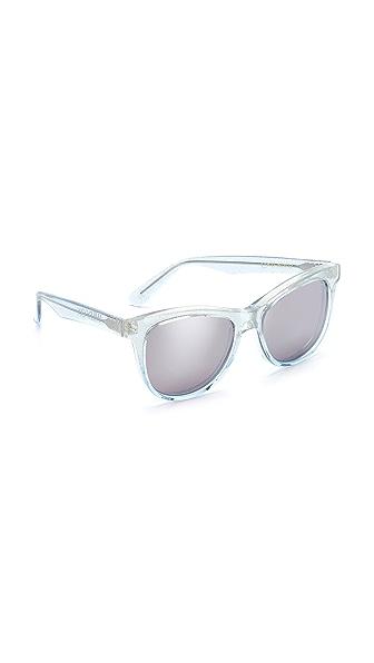 Wildfox Catfarer Deluxe Sunglasses - Crystal Cove/Silver Mirror