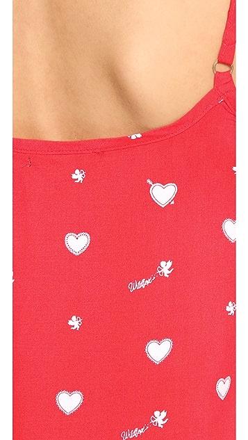 Wildfox Cupid Hearts Cami Sleep Set