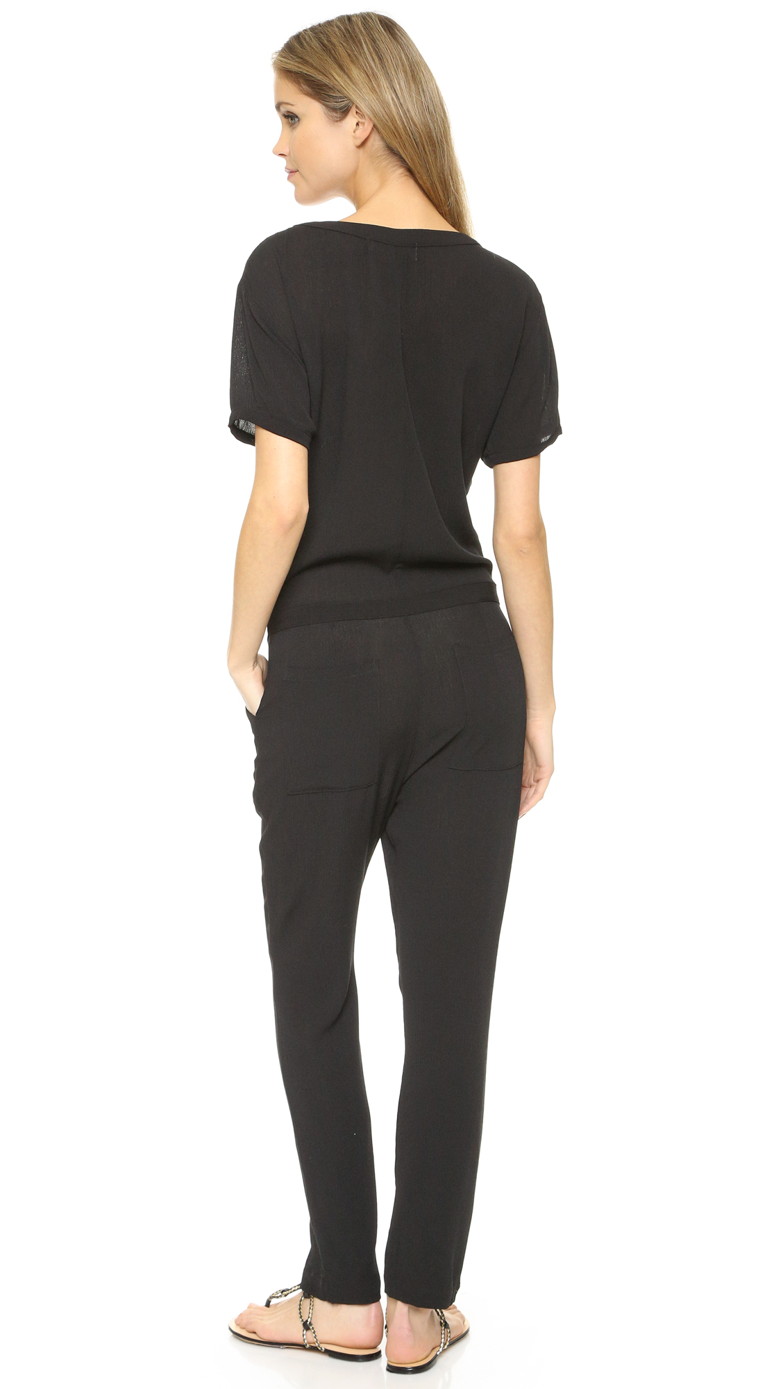 49fdbcf54173 Wildfox Solid Black Travel Jumpsuit