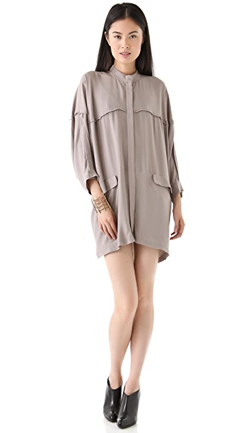 Willow Button Through Oversized Dress