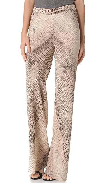 Willow Croc Print Bias Pants