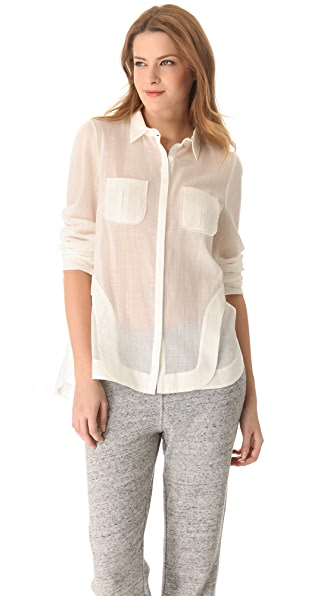 Willow Cotton Muslin Pocket Shirt