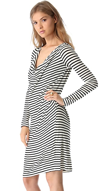 Willow Striped Jersey Dress