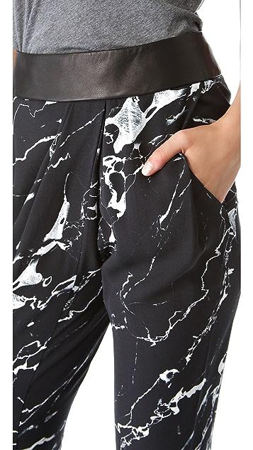 Willow Tuck Drape Print Pants