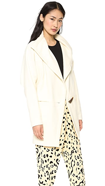 Willow Wool Cashmere Cutaway Coat