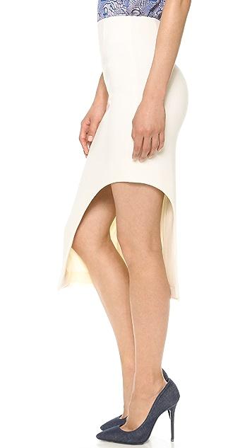 Willow Wool Asymmetrical Cutaway Skirt