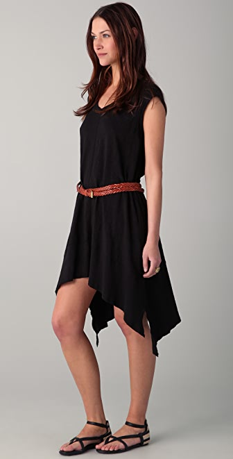 Wilt Uneven V Neck Dress