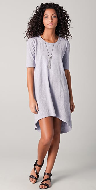 Wilt Slub Crew Hi Low Dress