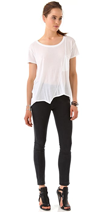 Wilt Slouchy Tee with Slant Pocket
