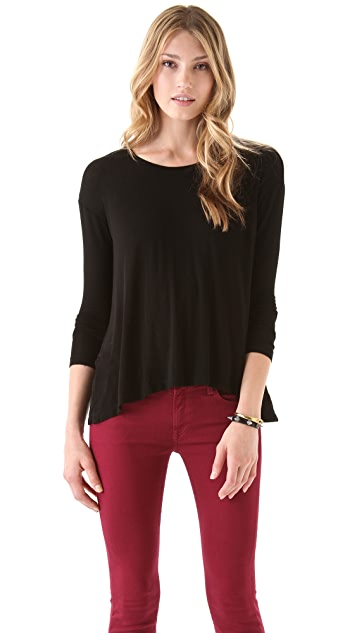 Wilt Big Backless Long Sleeve Top