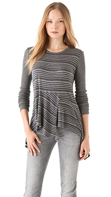 Wilt Stripe Peplum Top