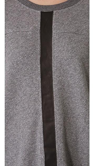 Wilt Shrunken Leather Mix Sweatshirt
