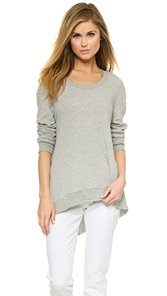 Wilt Basic Big Back Slant Sweatshirt