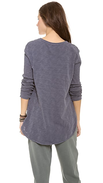 Wilt Long Sleeve Shirttail Top