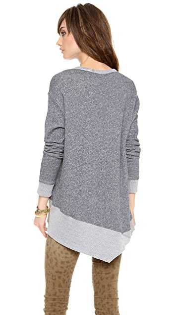 Wilt Long Sleeved Backslant Sweatshirt
