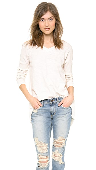 Wilt Rib Mix High Low Tunic Tee