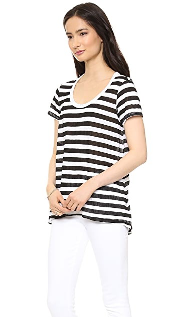 Wilt Baby High Low Linen Tee