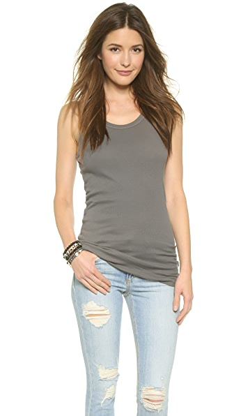 Wilt Ribbed Cotton Racer Tank