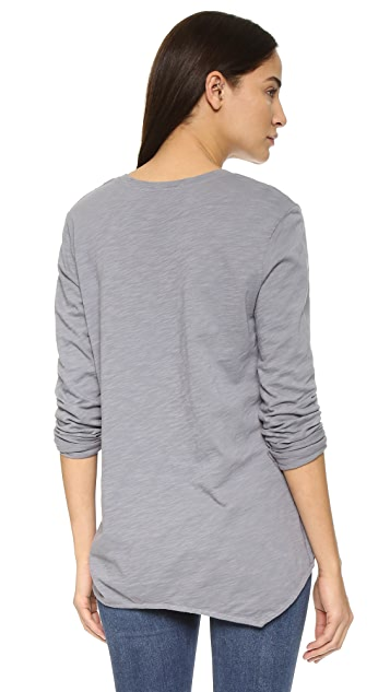 Wilt Long Sleeve Slouchy Pocket Tee