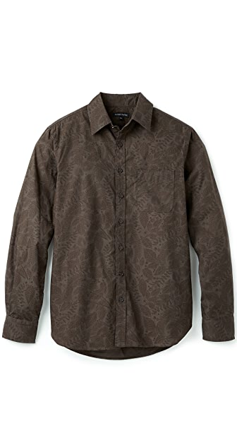 Wings + Horns Foliage Print Shirt
