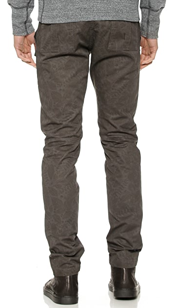Wings + Horns Foliage Print Bush Pants