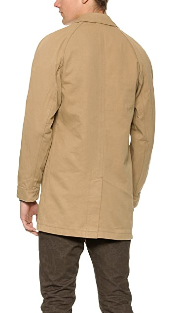 Wings + Horns Shrunken Twill Mac Coat