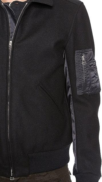 Wings + Horns Melton Wool Flight Jacket