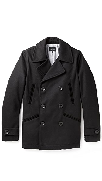 Wings + Horns Melton Wool Pea Coat