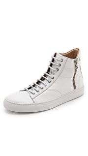 Wings + Horns Leather High Top Sneakers