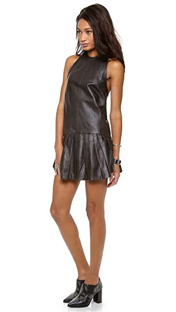 WINSTON WOLFE Phantom Girl Leather Dress