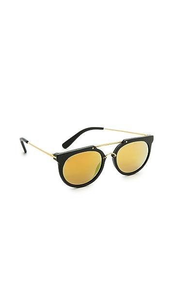 Wonderland Stateline Leather Sunglasses