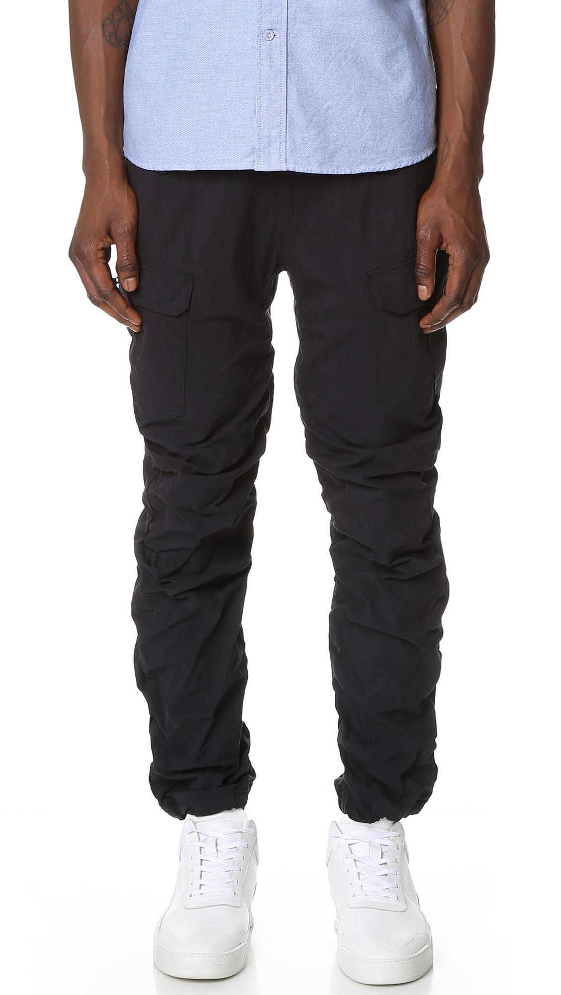 White Mountaineering Cotton Nylon Cargo Pants | EAST DANE