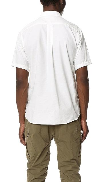 White Mountaineering Oxford Half Sleeves Shirt