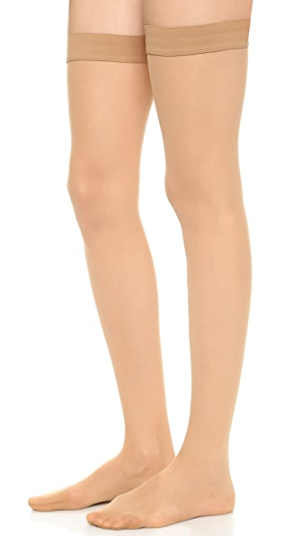 Wolford Individual 10 Stay Up Tights - Gobi