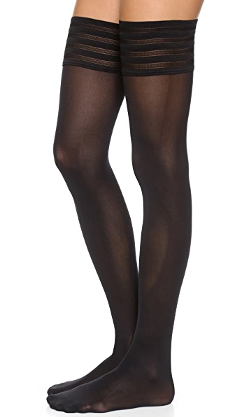 Wolford Velvet De Luxe 50 Stay Up Tights - Black