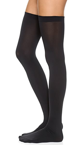 Wolford Fatal 80 Seamless Stay Up Tights - Black