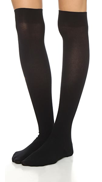 Wolford Louise Ribbed Stockings - Black