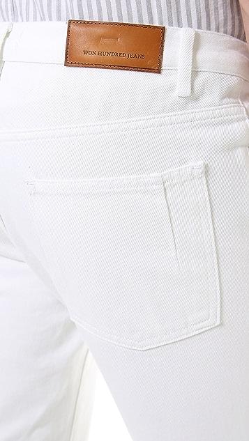 Won Hundred Dean White Slim Jeans