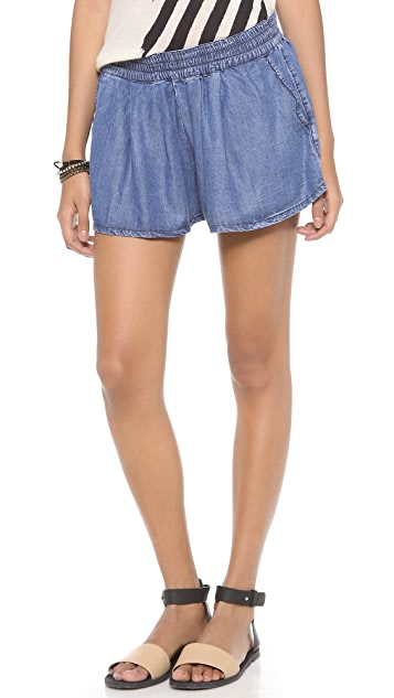 Won Hundred Bonny Chambray Shorts