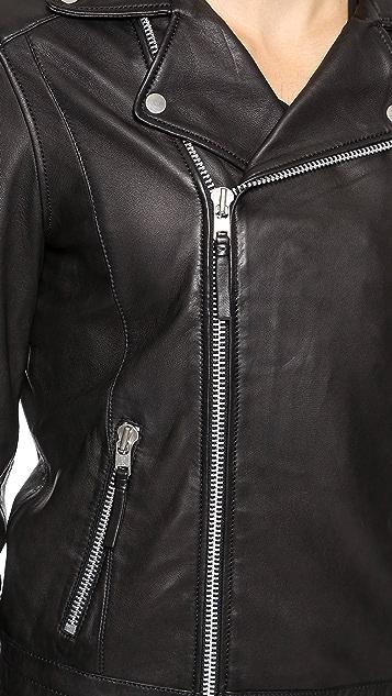 Won Hundred Ray Leather Jacket