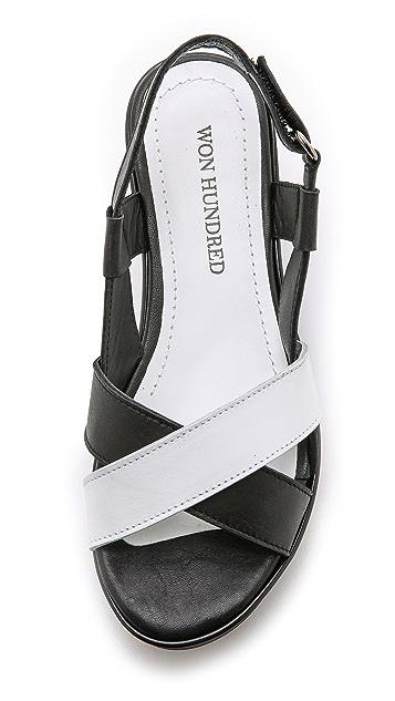 Won Hundred Saga Low Flatform Sandals