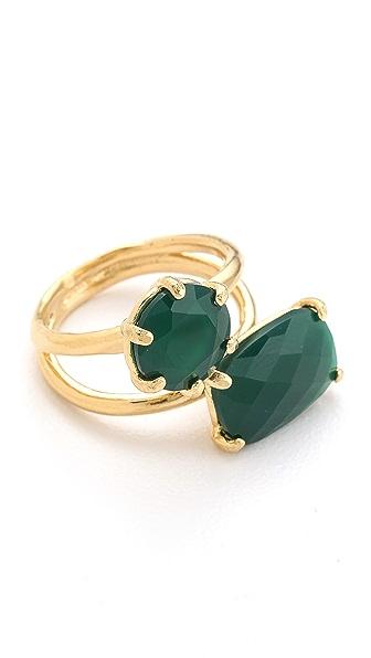 Wouters & Hendrix Green Agate Stone Ring