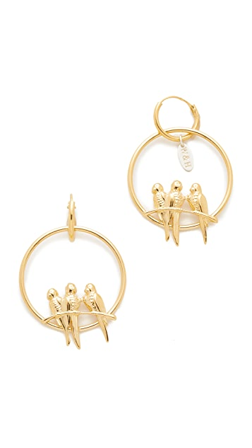 Wouters & Hendrix Bird Hoop Earrings