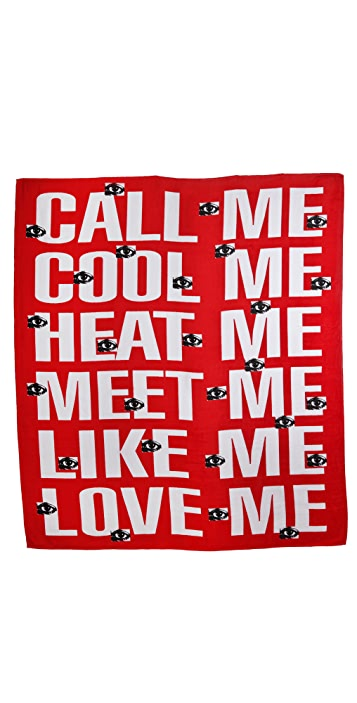 WOW! Barbara Kruger Double Beach Towel
