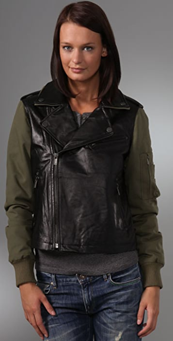 William Rast Runway Combo Leather Jacket