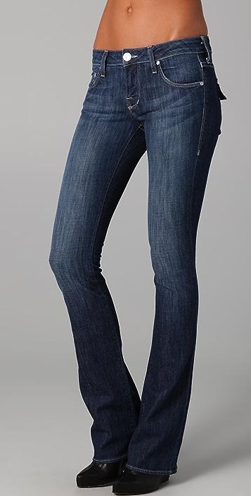 William Rast Tatum Boot Cut Jeans with Flap Pockets
