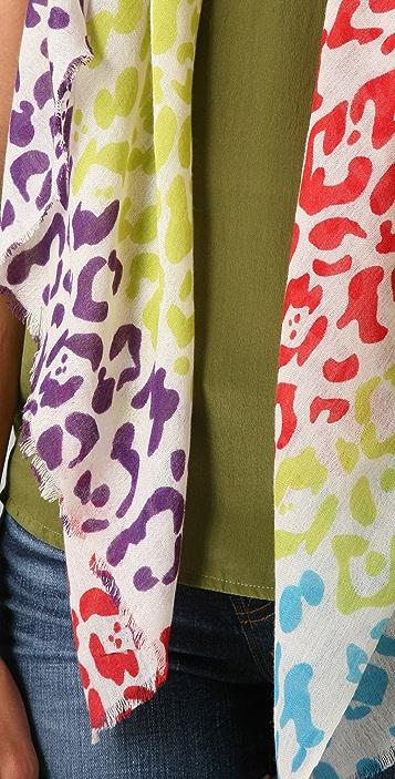 YARNZ Multicolored Cheetah Scarf