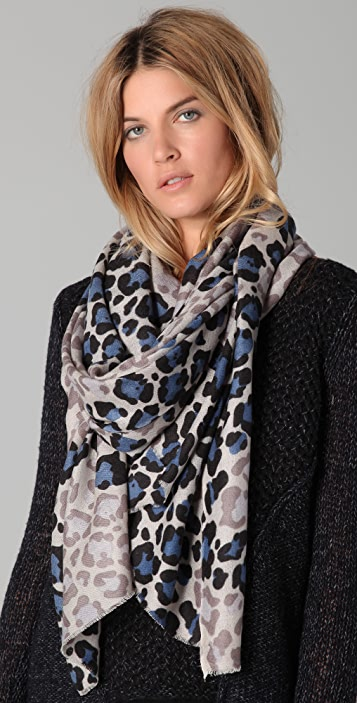 YARNZ Faded Leopard Scarf