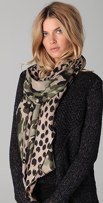 YARNZ Camo Leopard Scarf