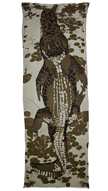 YARNZ W. Alligator Scarf